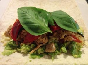 Fresh health chicken burritos