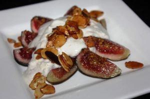 Figs yoghurt brandied almonds