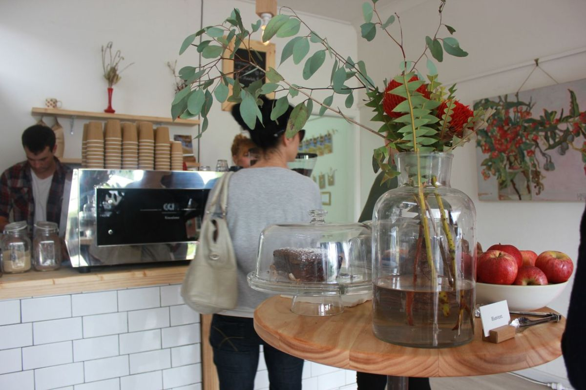 Fresh, simple pop-up espresso bar and art exhibition