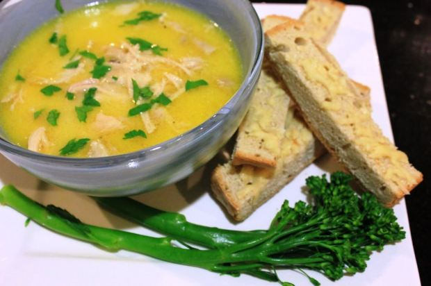 Broccolini-Spring Onion Soup Recipe — Dishmaps