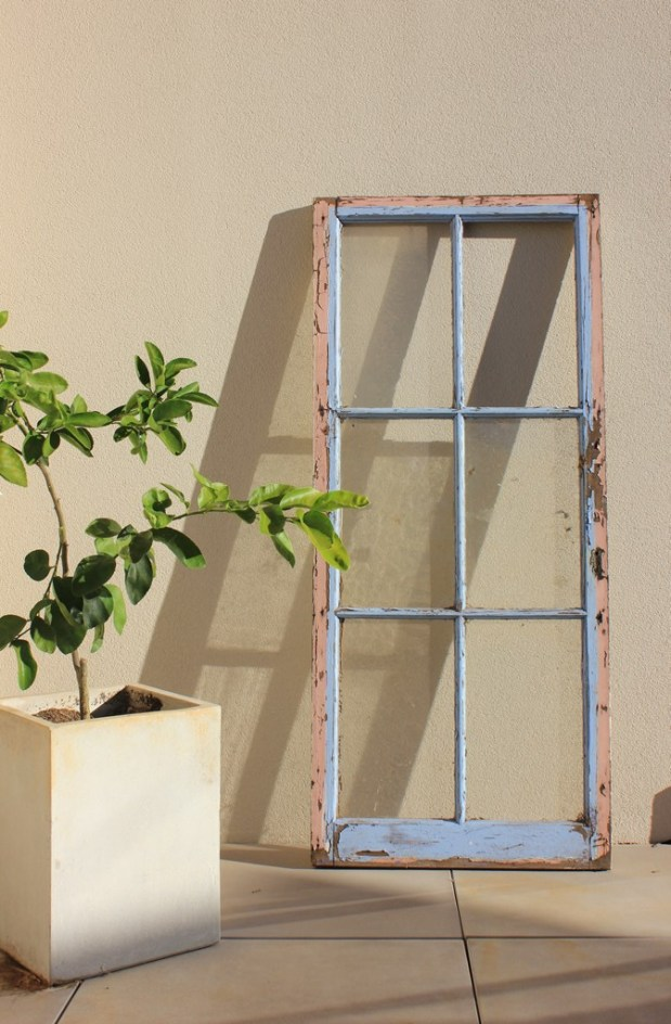 Old timber window frame