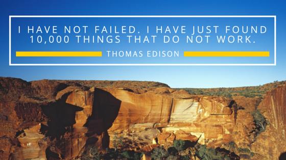 Failure quote by Thomas Edison
