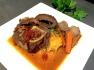 Beef Bourguignon meets Osso Bucco with sweet potato mash
