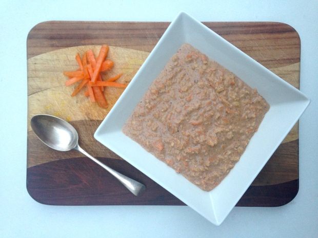 Carrot and walnut porridge