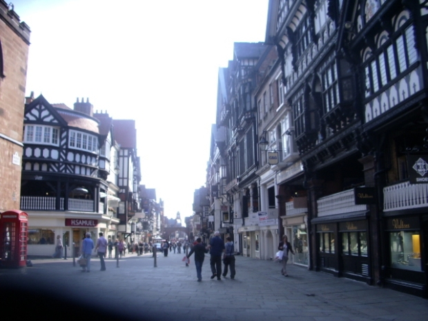 The streets of Chester, England