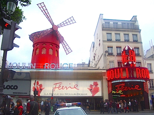 The Moulin Rouge, Paris: birth-place of the can-can and an absolute must for any visit to the City of Lights
