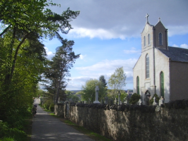 A roadside church in the Scottish highlands