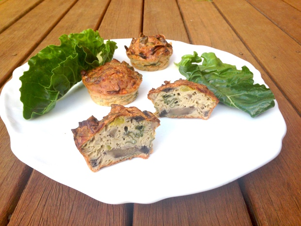 Spinach, mushroom and egg muffins