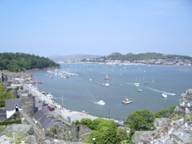 Conwy, Wales. The port and  walled town is home to Conwy Castle