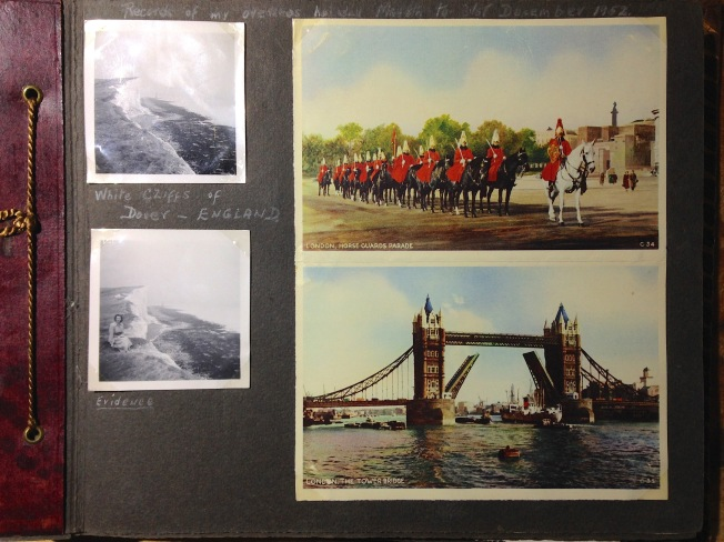 Nan's photo album from her European travels in 1952